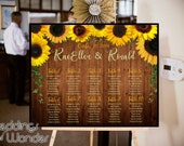 Rustic Wood Sunny Days Sunflower - Seating Chart