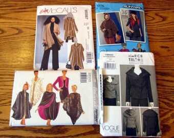 Coats, Capes, Jackets, Shawls & Vest, Misses' sizes 6 to 26 - UNCUT