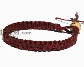 Burgundy Hemp Surfer Bracelet or Anklet