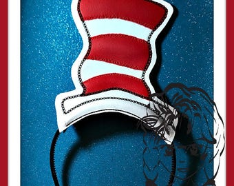 ReD WHiTE Cats HAT CRoWN ~ In The Hoop Headband ~ Downloadable DiGiTaL Machine Embroidery Design by Carrie