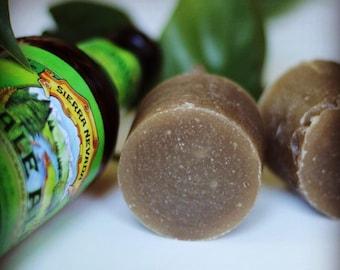 Organic beer shaving soap