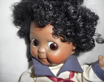 JDK Kestner Reproduction Doll #221 Black Americana Googly Eyed Afro Hair