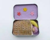 Altoid tin doll play set travel toy quiet play ready to ship
