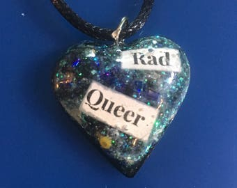 Rad Queer Necklace!  Celebrate Your Awesomeness!