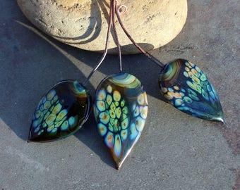 Jampa - Handmade Lampwork Glass HeadPins - One of a Kind Head Pin - SRA Elasia OOAK