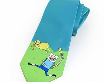Hand-Painted Adventure Time Necktie