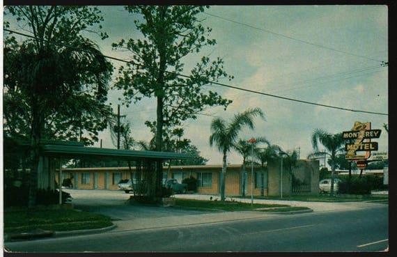 The Monterey Motel – New Orleans, Louisiana – Vintage Colorama Postcard