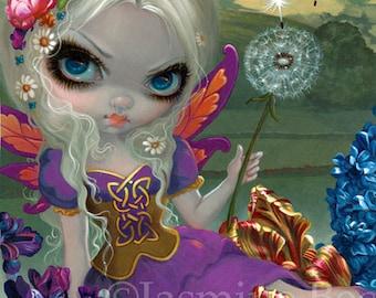 Three Wishes dandelion flower fairy art print by Jasmine Becket-Griffith 8x10 faery faeries dandelions 3 wishes festival