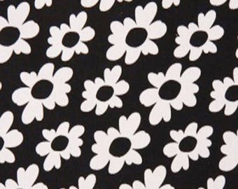 CLEARANCE - Premier Prints Wildflowers Black White Home Decorating Fabric By The Yard