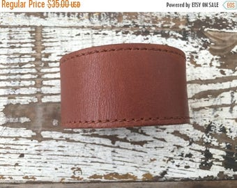 MEMORIAL DAY SALE- Custom Leather Cuff-Create Your Own-Stitched Leather-Word Cuff