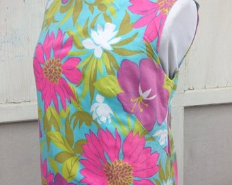 CRAZY SALE- Flower Power Dress-Vintage-Small