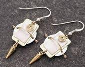 Unique Handmade Metal Earrings, Statement Jewelry, Dangle Hook Earrings, Stocking Stuffer, Presents For Her - Athenos Earrings by Jon Allen