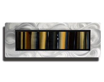 Earthtone Modern Metal Art, Abstract Metal Wall Painting, Contemporary Wall Accent, One of a Kind, Home Decor - JC 514D by Jon Allen