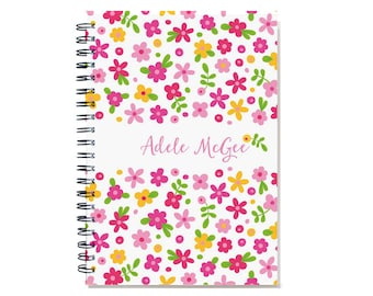 2017 Personalized Planner, Bridemaid Gift Idea, weekly planner, scheduler, custom calendar, sister wife BFF gift, Pink, SKU: pli pflower