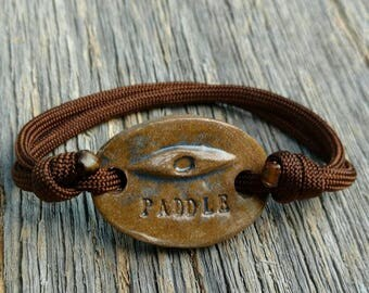 "Paracord Kayak Adjustable Bracelet ""PADDLE"""