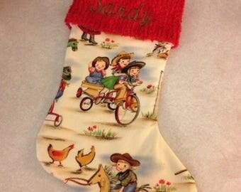 Cowboy stocking | Etsy