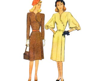 40s uncut Dress pattern Noir Dress vintage 32-26.5-35 Hourglass Dress pattern Day Dress pattern Mccalls 6556 Mccall 6556