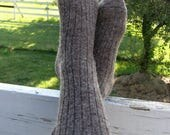 Alpaca Socks for Men,  Extra Large, Wool and Alpaca Socks, Dark Brown Sox, Grown in Michigan - from 2017 fleeces
