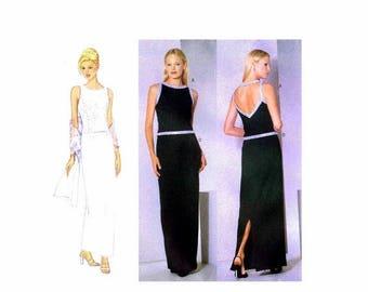 SALE Princess Seam Top Skirt Stole Butterick 6399 Sewing Pattern Size 12 - 14 - 16 Bust 34 - 36 - 38 Uncut