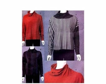 SALE Misses Semi Fitted Pullover Top Marci Tilton Vogue 8618 Sewing Pattern Full Figure Size 16 - 18 - 20 - 22 Bust 38 - 40 - 42 - 44 Uncut