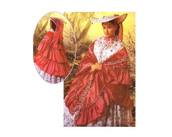 Simplicity 5444 Southern Belle Garden Hat and Mantle Wrap The Fashion Historian Martha McCain Costume Sewing Pattern UNCUT