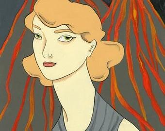 Soul of Sparks vintage inspired volcano print