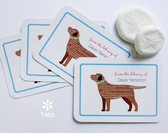 Chocolate Lab Bookplates by Taylor Made designs