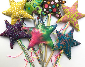 Magic wand, Fairy wand, Princess wand, flower girl wand, kids wand, ribbon wand wedding wand, custom wand, Star wand, Princess party