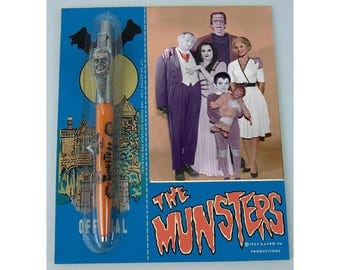 1964 Kayro-Vu Productions The OFFICIAL MUNSTERS PEN on display card reproduction . . . very rare even for replica.