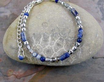 OOAK Sodalite Gemstone Bracelet - Item 1081