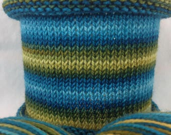 The Truth Is Out There: Hand-dyed gradient self-striping sock yarn, 80/20 SW merino/nylon