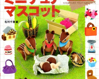 Out of Print - Miniature Felt Mascots Japanese Craft Book