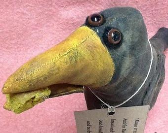 CustomerAppreciationSale Primitive Doll,  Crow,  Elijah's Raven