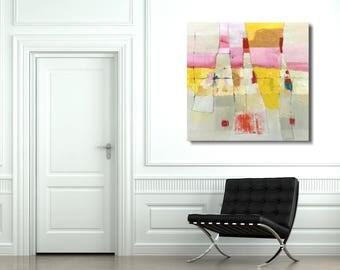 """LARGE Abstract Painting,Abstract Wall Art, Original Painting - """"Disregard"""""""