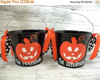 ON SALE Personalized 5 Quart Halloween Bucket - More Designs Available