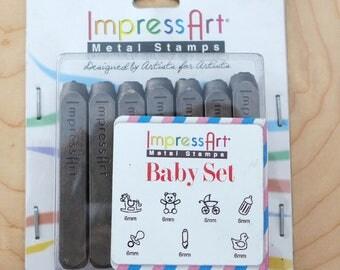 ImpressArt- Baby Set Metal Design Stamps Pack Set (7 pcs)