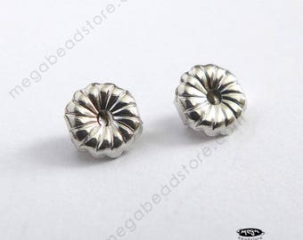 2 pcs 5mm Premium 14K White Gold Ear Nuts Solid Real Gold Backing Replacement 14KG17W