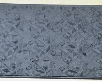GEO QUILT Embossed Rubber Texture Tile Mat Stamp for Clay inks Ceramics Paint Soap  MGT524
