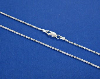 SALE Necklace Sterling Silver Diamond Cut Wheat Chain 16, 18, 20, 24, 30 Inches 1.5mm Style no. 271