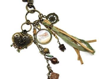 Tassel Keychain | Boho Tassel Charm | Southwest Tassel Bag Charm | Southwest Key Chain | Wander Keychain | Tassel Purse Charm | Gift for Her