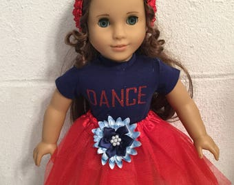 Doll clothes that fit the American girl red tutu
