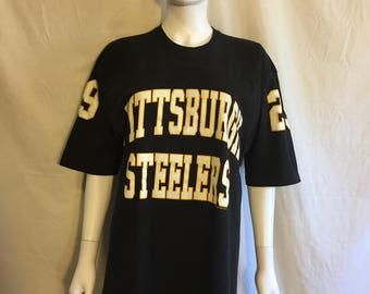 Pittsburgh Steelers t shirt Russell Athletic   Large   90s Vintage