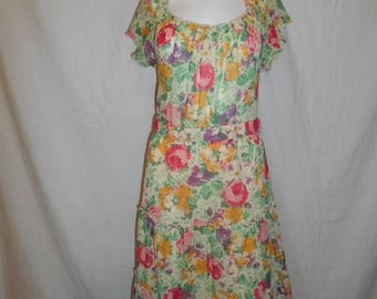 Closing Shop 40%off SALE Vintage 70s Floral Dress, boho bohemian gypsy hippie hippy dresses