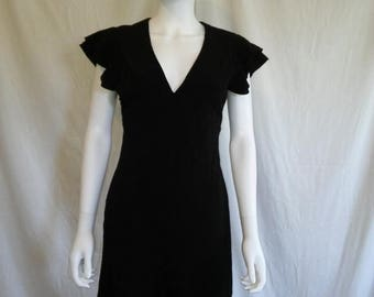 Closing Shop 40%off SALE 90s Black Dress - 90s black minimalist dress - Size 6 dress