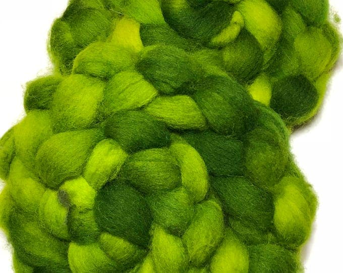 Kettle Dyed Cheviot Wool top. Roving.  Spin. Felt. Soft and easy to work with. 1/2lb. Pickled