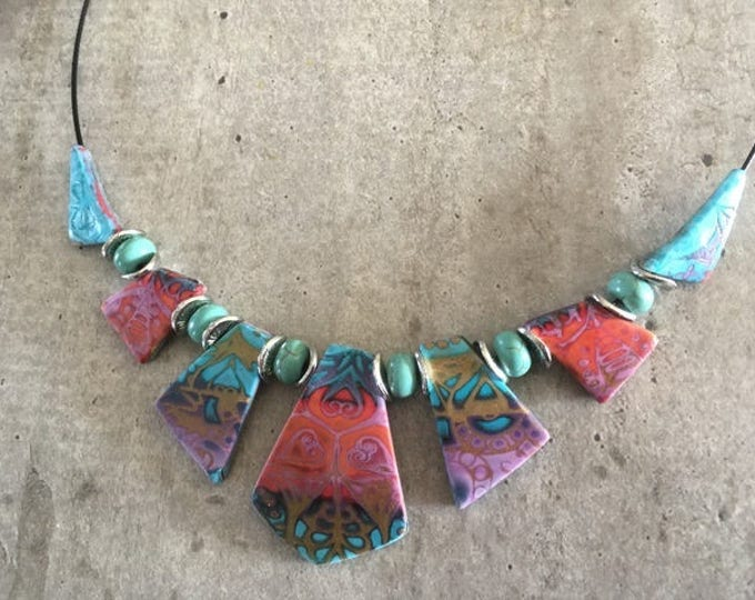Polymer clay necklace - new collection