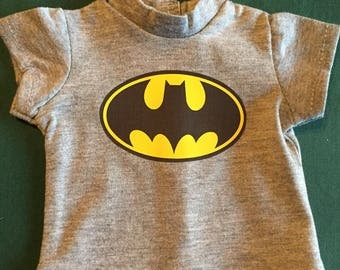 18 inch or Bitty Baby doll T-shirt , Super Hero themes hor your favorite foll 3 designs to choosr from