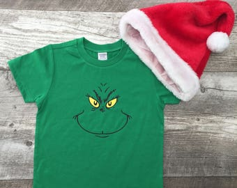 Unisex Boys Girl Holiday Seasonal Vintage Christmas Dr. Suess You're a mean one Mr. Grinch Baseball T Shirt modern graphic tee red TSLM