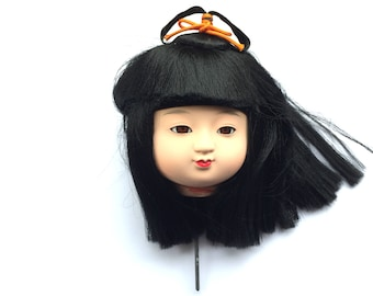 Kawaii Japanese Doll Head Ichimatsu Doll Body Part D15-16 Girl Head