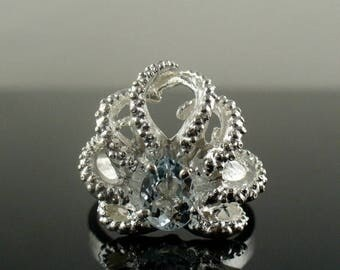 SALE SALE- Baby Octo Ring with Aquamarine
